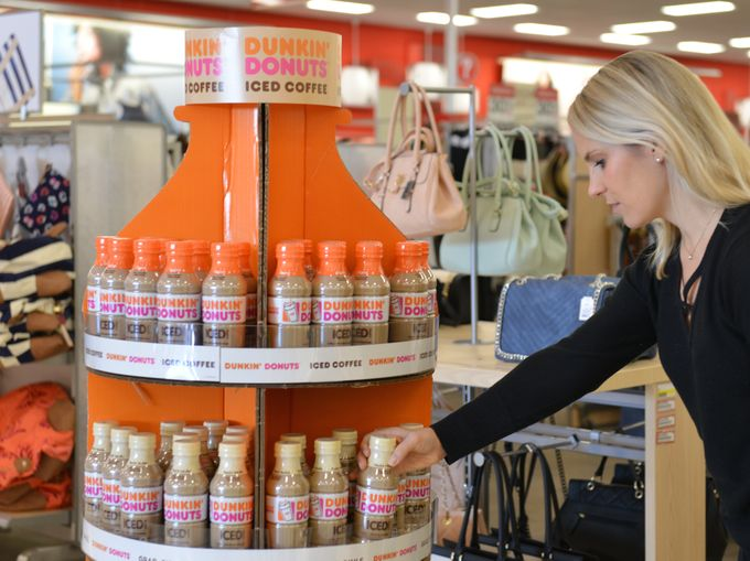Dunkin Donuts sells 6-packs now… 6-packs of iced coffee in plastic bottles