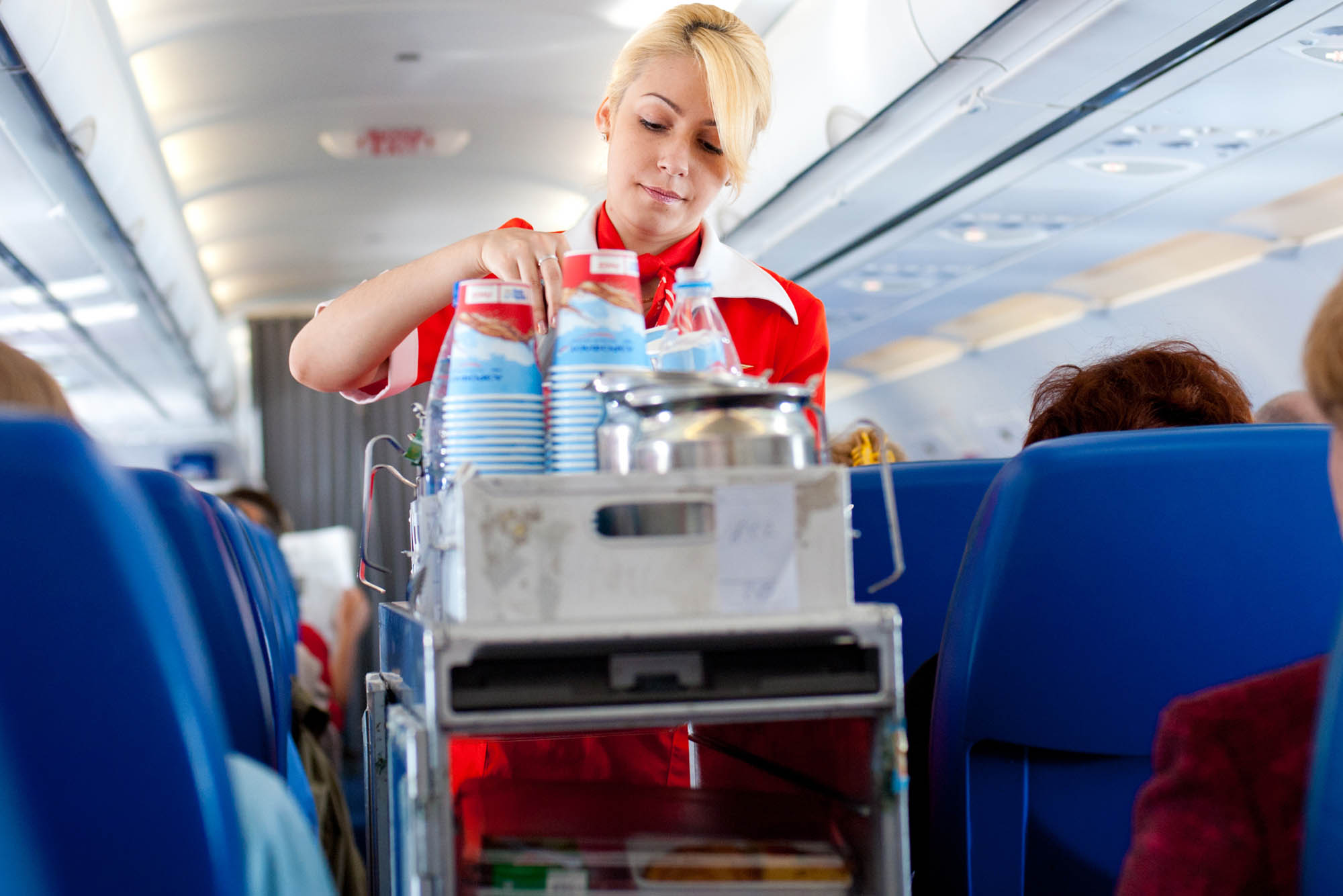 Coffee served on flights- don't do it