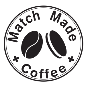 not a peaberry coffee bean on match made coffee's logo