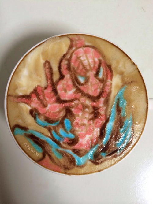 colorful-caffe-latte-art-spiderman