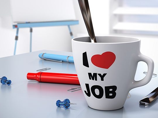 Does coffee increase workplace productivity? mug love job
